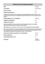 Instructie WHIRLPOOL vaatwasser inbouw WIO 3T141 PES