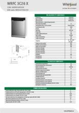 Instructie WHIRLPOOL vaatwasser rvs WRFC 3C26 X