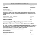 Instructie WHIRLPOOL vaatwasser vrijstaand rvs WFO 3O41 PL X