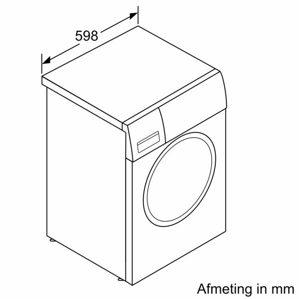 Afmetingen BOSCH wasmachine WAV28EH7NL
