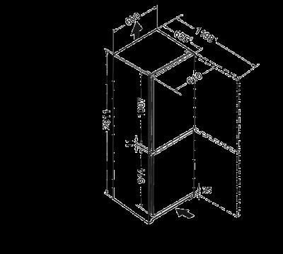 Maattekening LIEBHERR koelkast CN4713-23
