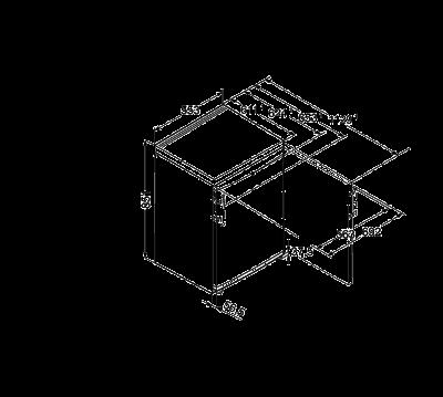 Maattekening LIEBHERR vrieskast tafelmodel GP1376-21
