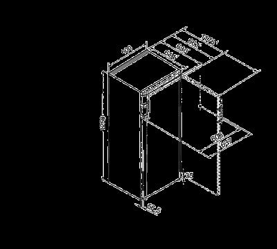 Maattekening LIEBHERR koelkast kastmodel K2630-21
