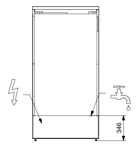 Afmetingen STEEL Amerikaanse koelkast EFR-9 RVS