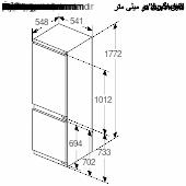 Maattekening SIEMENS koelkast inbouw KI86VVFE0