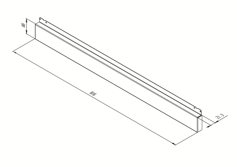 Maattekening SMEG plint KIT2A1A-9