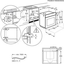 Afmetingen AEG oven inbouw rvs BSE788280M