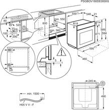 Afmetingen AEG oven inbouw zwart BEE435060B