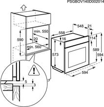 Maattekening AEG oven inbouw BP5014301M