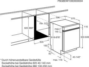 Maattekening AEG vaatwasser inbouw F56602IM0P