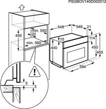 Maattekening AEG oven met magnetron KM8403021M (outlet)