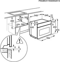 Maattekening AEG combi stoomoven KS8404721M