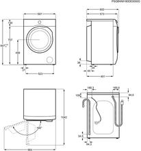 Maattekening AEG wasmachine L6FB86IW