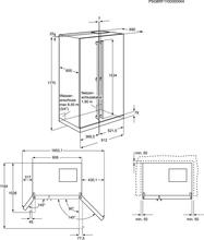 Maattekening AEG koelkast side-by-side S56090XNS1