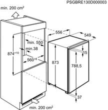 Maattekening AEG koelkast inbouw SFB688F1AF