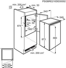 Maattekening AEG koelkast inbouw SKE788EAAS