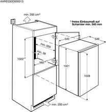 Maattekening AEG koelkast inbouw SKS51001S0