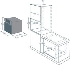 Maattekening ASKO oven met magnetron OCM8456S
