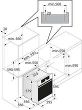 Maattekening ASKO oven inbouw OT8636S