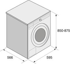 Maattekening ASKO wasmachine rvs W4086C.S/2