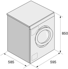 Maattekening ASKO wasmachine W6564NL
