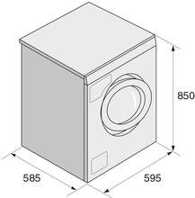 Maattekening ASKO wasmachine W SWEDEN EDITION