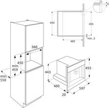 Maattekening ATAG koffiemachine grafiet CM4692D