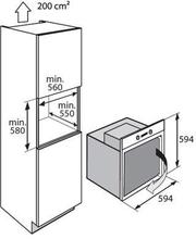 Maattekening ATAG oven inbouw grafiet OX6492LL