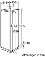 Afmetingen BOSCH koelkast inbouw KIF40P60