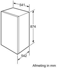 Afmetingen BOSCH koelkast inbouw KIR18E62