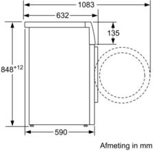 Afmetingen BOSCH wasmachine WAW28592NL