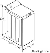 Afmetingen BOSCH wasmachine bovenlader WOT24255NL