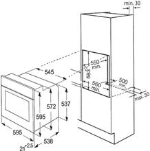 Maattekening BAUKNECHT oven inbouw zwart BLVMS8100SW