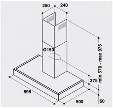 Maattekening BAUKNECHT afzuigkap DBR5890/01PT