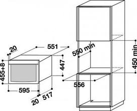 Maattekening BAUKNECHT combi stoomoven ECTM 9145/1 IXL