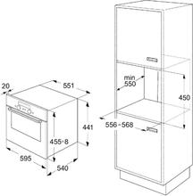 Maattekening BAUKNECHT combi-magnetron EMCHE8144PT