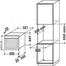 Maattekening BAUKNECHT combi-magnetron EMCHE8145PT