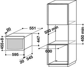 Maattekening BAUKNECHT combi-magnetron EMCHT9145IXL
