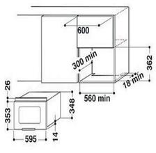 Maattekening BAUKNECHT magnetron inbouw EMWP9238PT