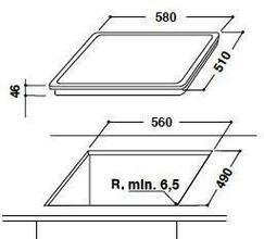 Maattekening BAUKNECHT kookplaat keramisch ETCF8640IN