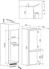Maattekening BAUKNECHT koelkast inbouw KGIE2184/A++