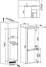Maattekening BAUKNECHT koelkast inbouw KGIS3194/A++