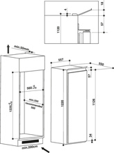 Maattekening BAUKNECHT koelkast inbouw KRIF3121/A++