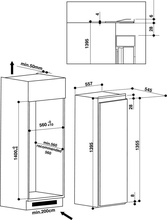 Maattekening BAUKNECHT koelkast inbouw KRIF3141/A++