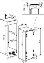 Maattekening BAUKNECHT koelkast inbouw KVIF 3183 FRESH A++
