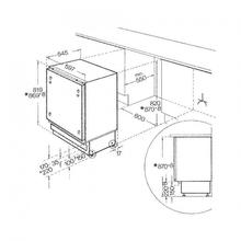 Maattekening BAUKNECHT koelkast onderbouw URI1441/A+