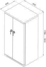 Maattekening BORETTI koelkast Abbinato GK