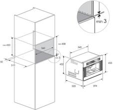 Maattekening BORETTI koffiemachine BPK45ZWGL