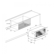Maattekening BORETTI oven inbouw zwart BPON90ZWGL