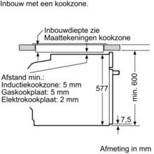 Maattekening BOSCH oven met magnetron HMG636NS1